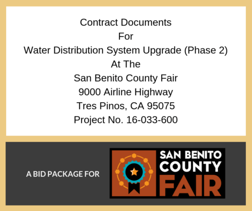 Water Distribution System Bid Package Announcement