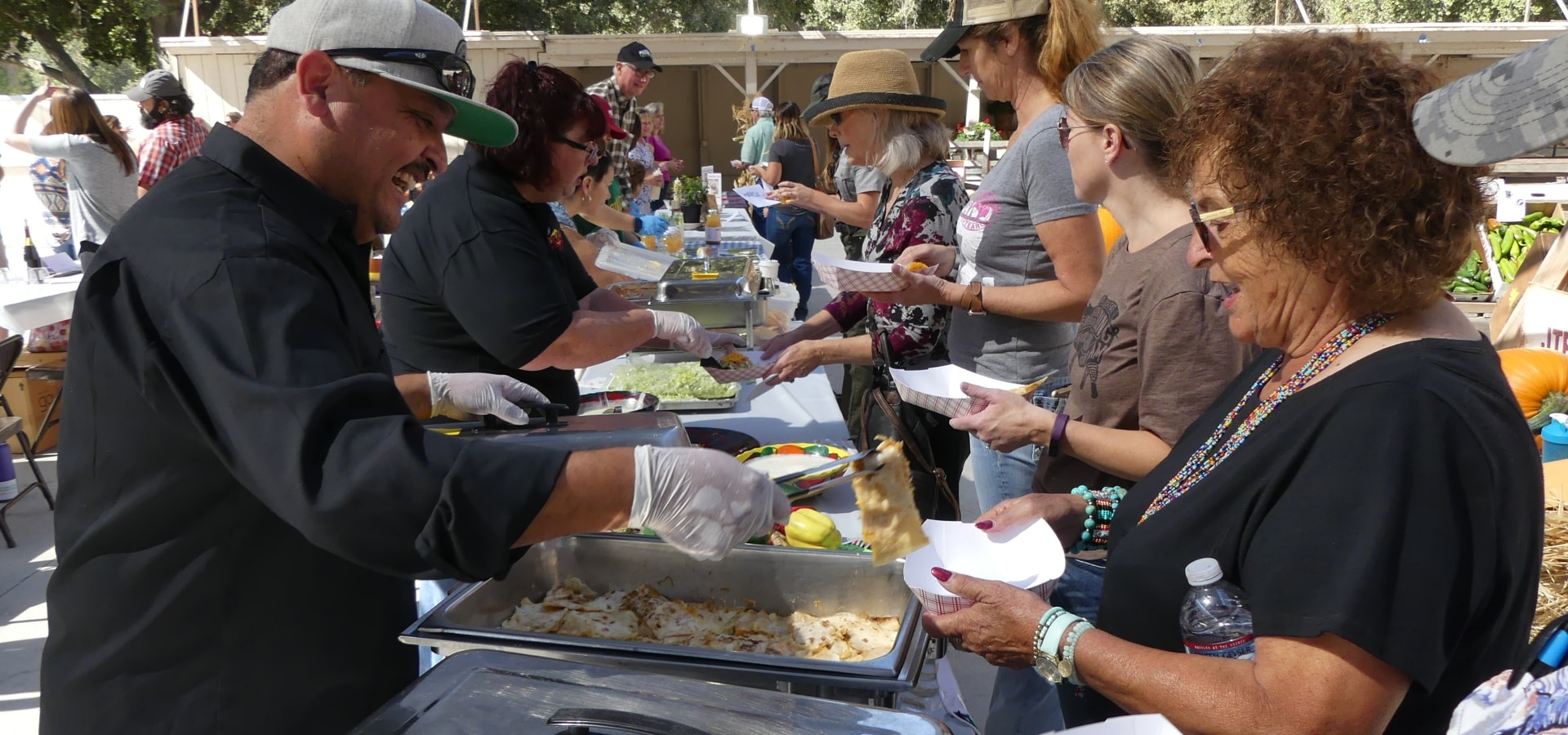 Food being served to people at San Benito County Fair